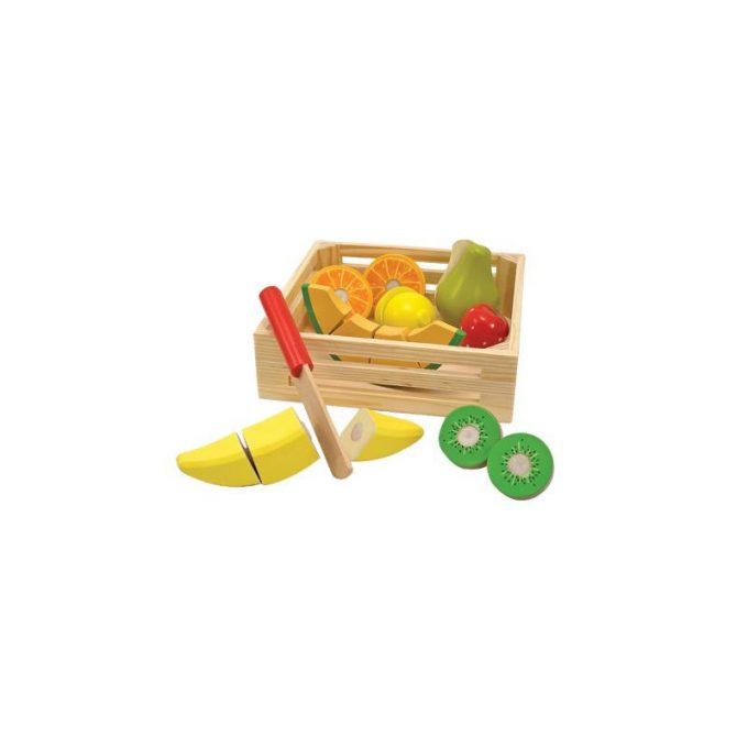 Lõigatavad puuviljad kastis