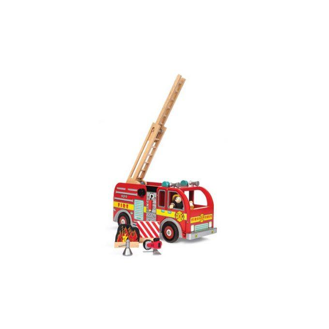 Suur tuletõrjeauto tuletõrjujaga
