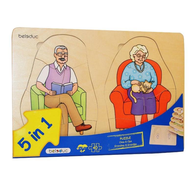 Vanaema ja vanaisa kihiline pusle - Beleduc