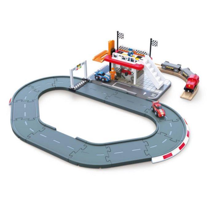 """Rongi- ja autoteekomplekt """"Võidusõidurada"""""""