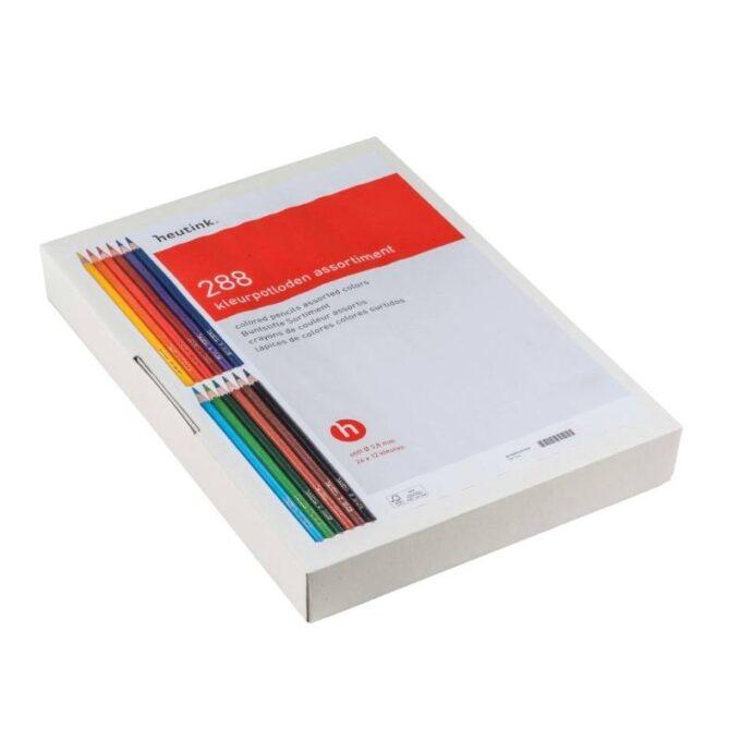 Kolmnurksed värvipliiatsid karbis (288 tk)